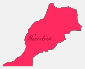 Map of Morocco with Marrakech