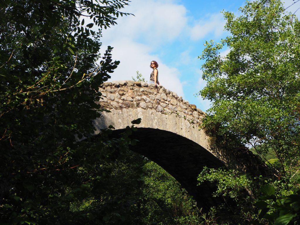 Roman bridge at Montagut i Oix
