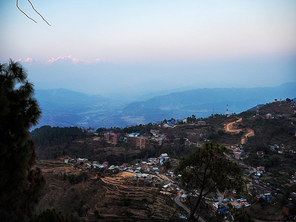 City of Bandipur with a view of the Himalaya