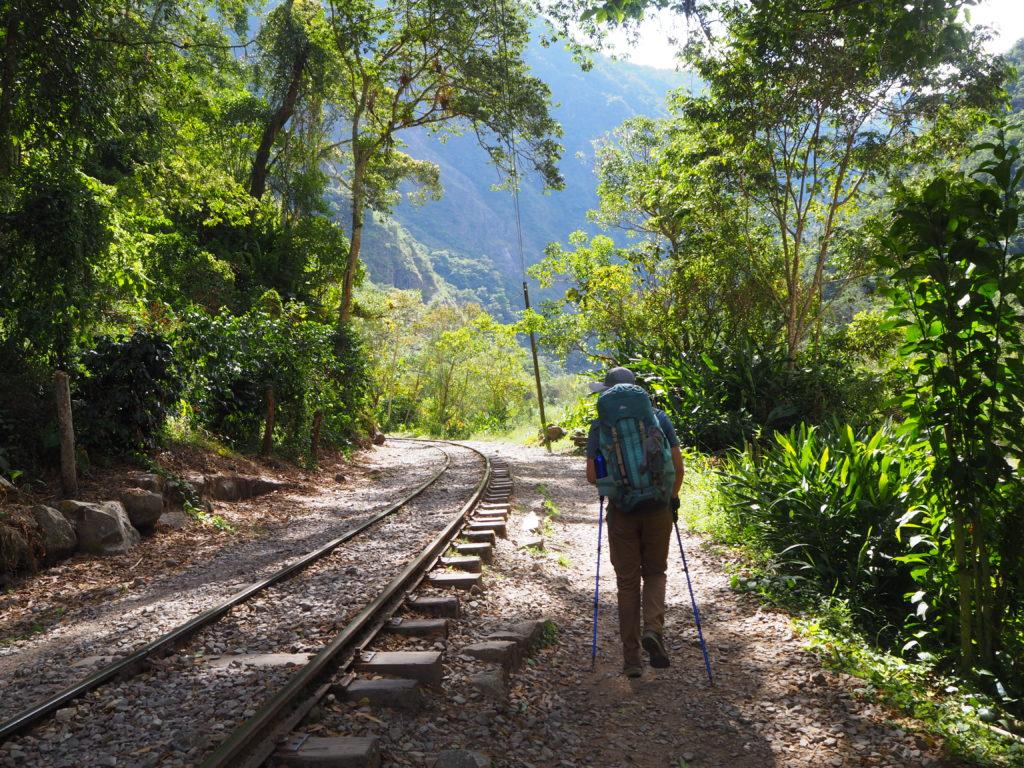 Train rail to Machu Picchu