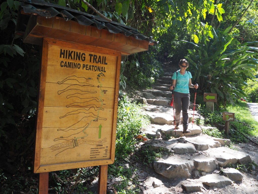 Hiking trail to Machu Picchu entrance