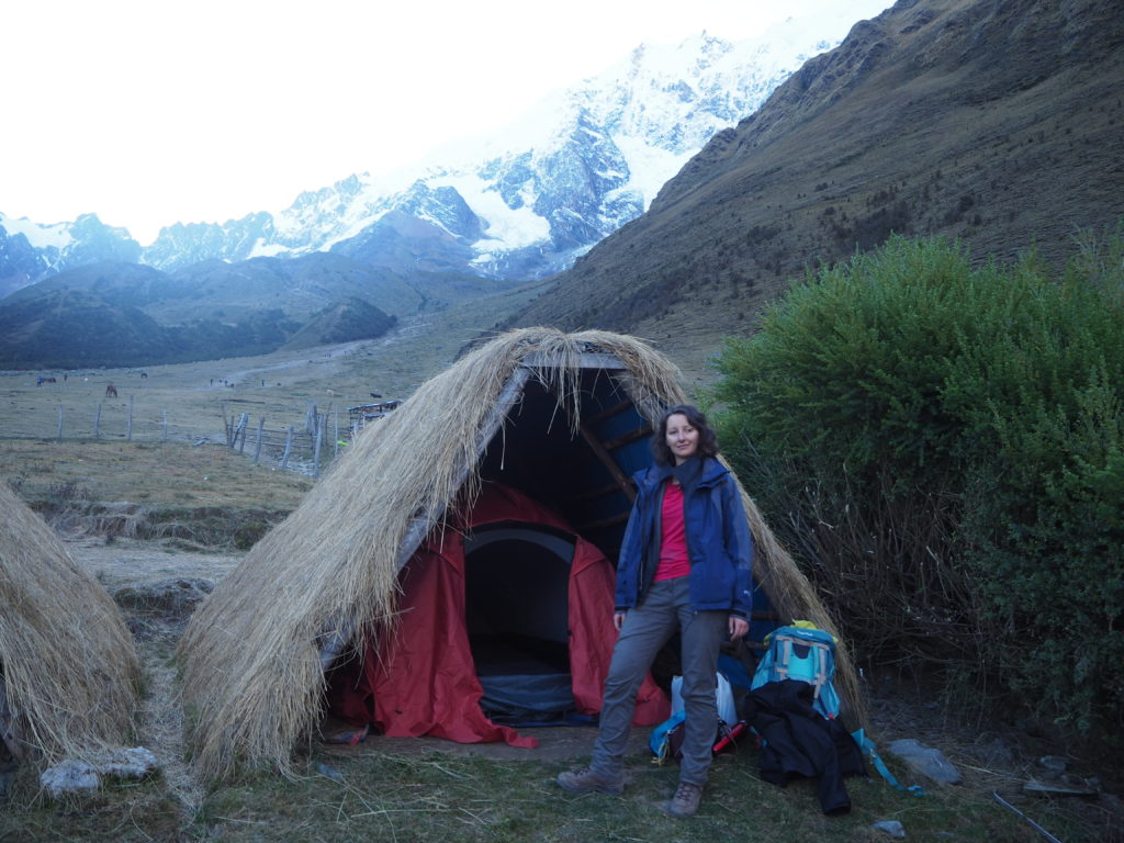 Soraypampa campsite - first night of Salkantay Trek without a guide