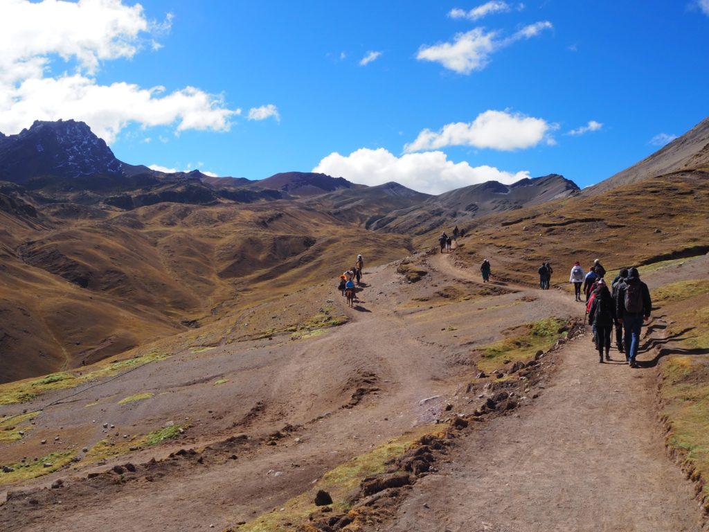 The path to Rainbow Mountain